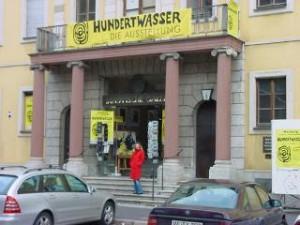 Bild Eingang Hundertwasserausstellung Würzburg1